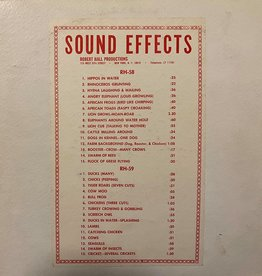 Used Vinyl Robert Hall Productions- Sound Effects