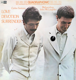 Used Vinyl Carlos Santana & Mahavishnu John McLaughlin- Love, Devotion, Surrender (Quadraphonic)