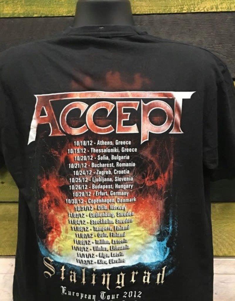 """Apparel Accept 2012 Tour T-Shirt, Blk, M (25.5"""")"""