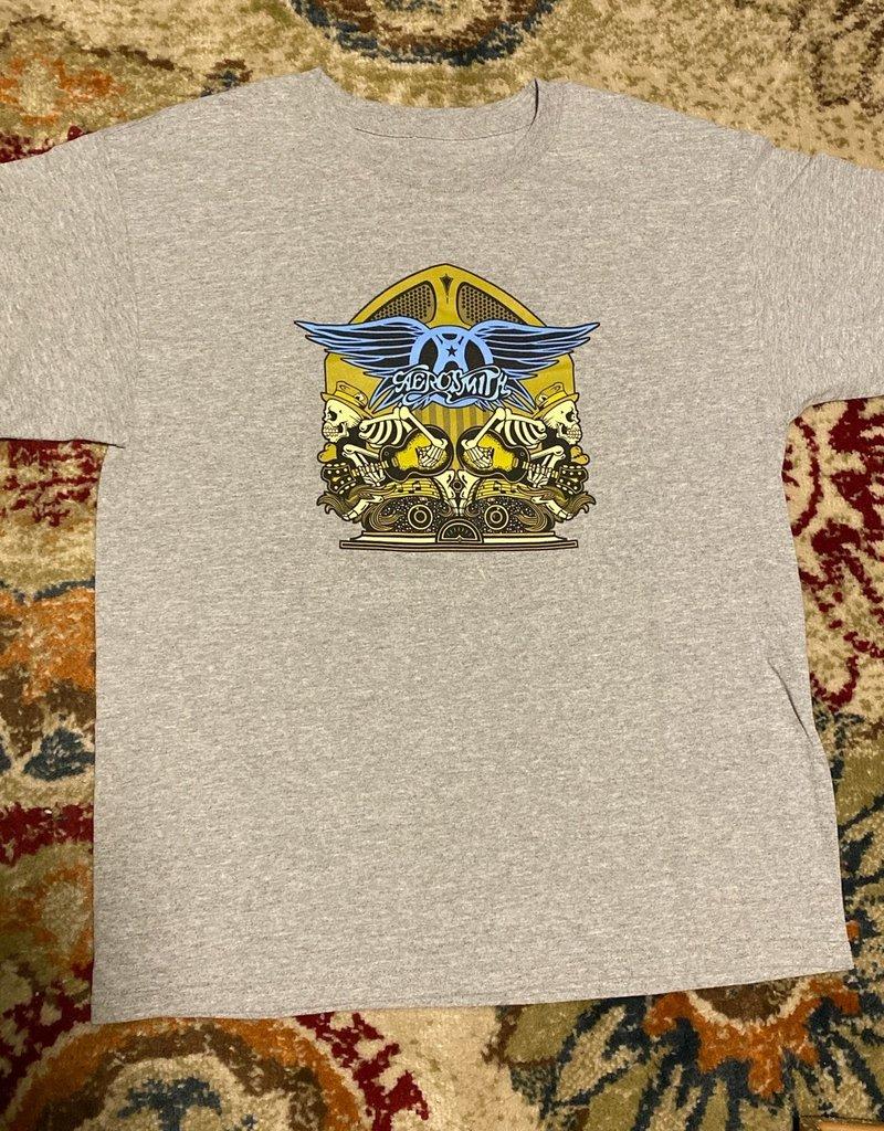 Apparel Aerosmith Skeleton Band T-Shirt, Grey, L