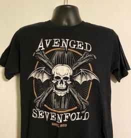 Apparel Avenged Sevenfold Skull/Crossbones Since 1999, Blk, L