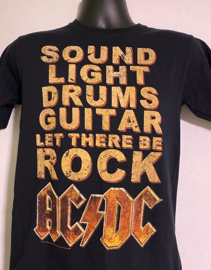 "Apparel AC/DC 2013 Let There Be Rock T-Shirt, Blk, S (25"" Long, 17"" Pit To Pit)"