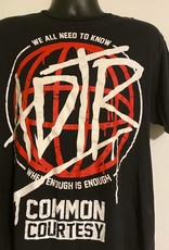 Apparel A Day To Remember Common Courtesy: We All Need To Know When Enough Is Enough T-Shirt, Blk, L