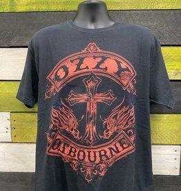 Apparel Ozzy Osbourne Cross/Crest T-Shirt, Blk, XL