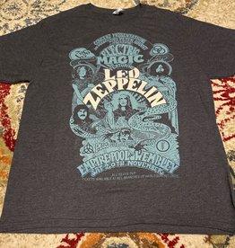 Apparel Led Zeppelin Empire Pool Wembley 1971 REPRODUCTION Concert T-Shirt, Grey, XL
