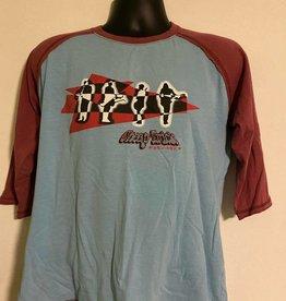 Apparel Cheap Trick 2005 Baseball T-Shirt/Raglan, Blue/Maroon, M