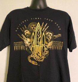 """Apparel At The Gates 2008 Suicidal Final Tour T-Shirt, Blk, L (28"""" Long, 21"""" Pit To Pit)"""