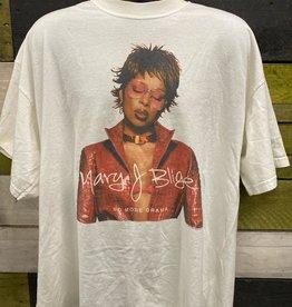 Apparel Mary J Blige 2002 No More Drama World Tour T-Shirt, White, XXL