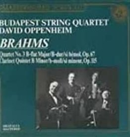 Used CD Johannes Brahms- Quartet No. 3 B-Flat Major, Op. 67/ Clarinet Quintet B Minor, Op. 115