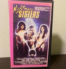 Used VHS Nightmare Sisters (Signed By Linnea Quigley/Michelle McClellan/Brinke Stevens)
