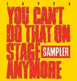 New Vinyl Frank Zappa- You Can't Do That On Stage Anymore (Sampler) -RSD20-3