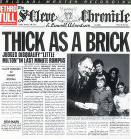 Used Vinyl Jethro Tull- Thick As A Brick (1985 MoFi Reissue)(Numbered)