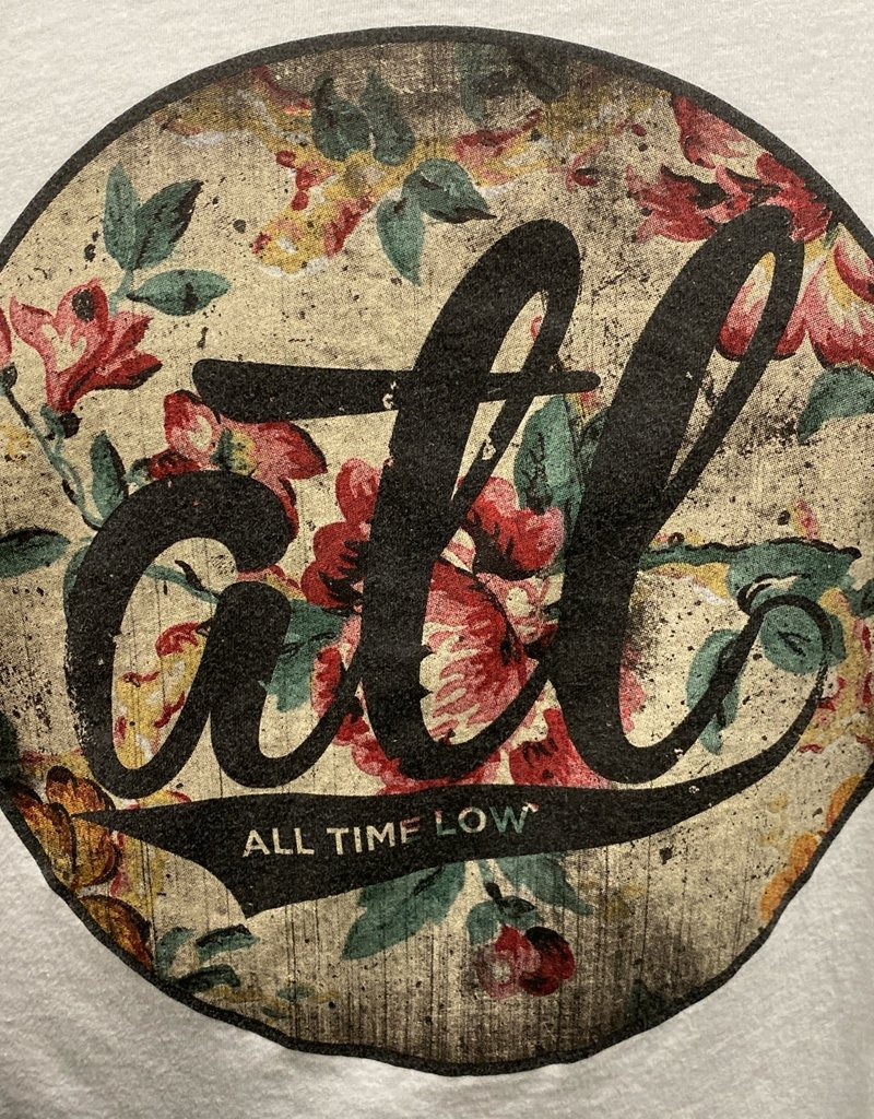 Apparel All Time Low Floral ATL Logo T-Shirt, White, Women XL