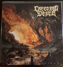 Used Vinyl Creeping Death- Wretched Illusions (Tangerine/Bone/Baby Blue Merge)