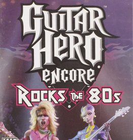 PS2 Guitar Hero Encore Rocks the 80's