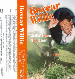 Used Cassette Boxcar Willie- Rollin Down The Line