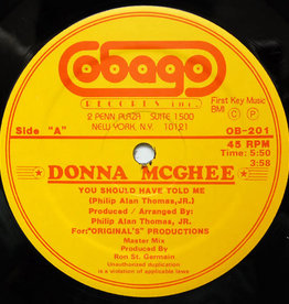 """Used Vinyl Donna McGhee- You Should Have Told Me (12"""")(Sealed)(DSG)"""