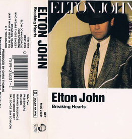 Used Cassettes Elton John- Breaking Hearts