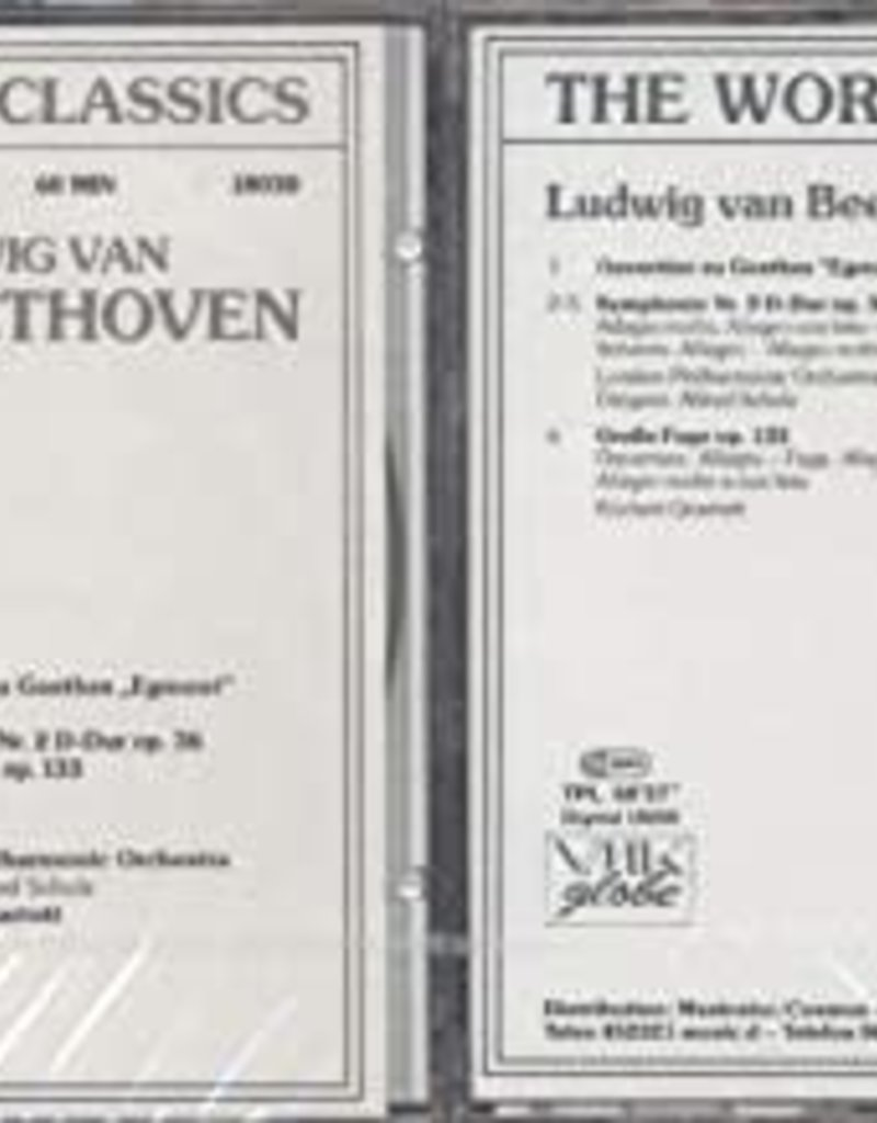 "Used CD Beethoven- Ouverture Zu Goethes "" Egmont"" Op. 84/ Symphonie Nr. 2 D-Dur Op. 36/ Grobe Fuge Op. 133 (Alfred Scholz Conductor)"
