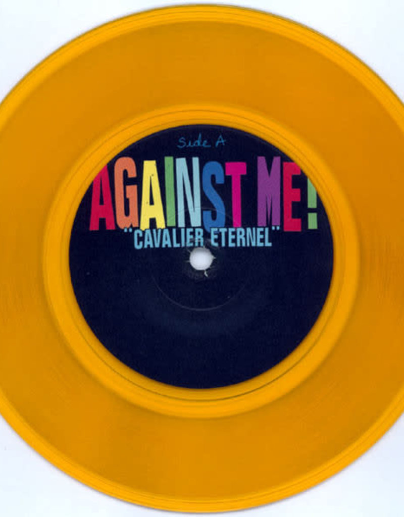 Used 7 Against Me!- Cavalier Eternel / You Look Like I Need A Drink (Clear Orange)