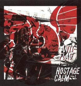 Used 7 Anti Flag/Hostage Calm- Anti-Flag + Hostage Calm Split (White & Blue w/ Red Splatter)