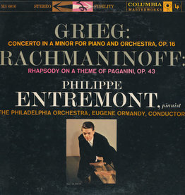 Used Vinyl Grieg/ Rachmaninoff- Concerto In A Minor For Piano Orchestra, Op. 16/ Rhapsody On A Theme Of Pagnini, Op. 43