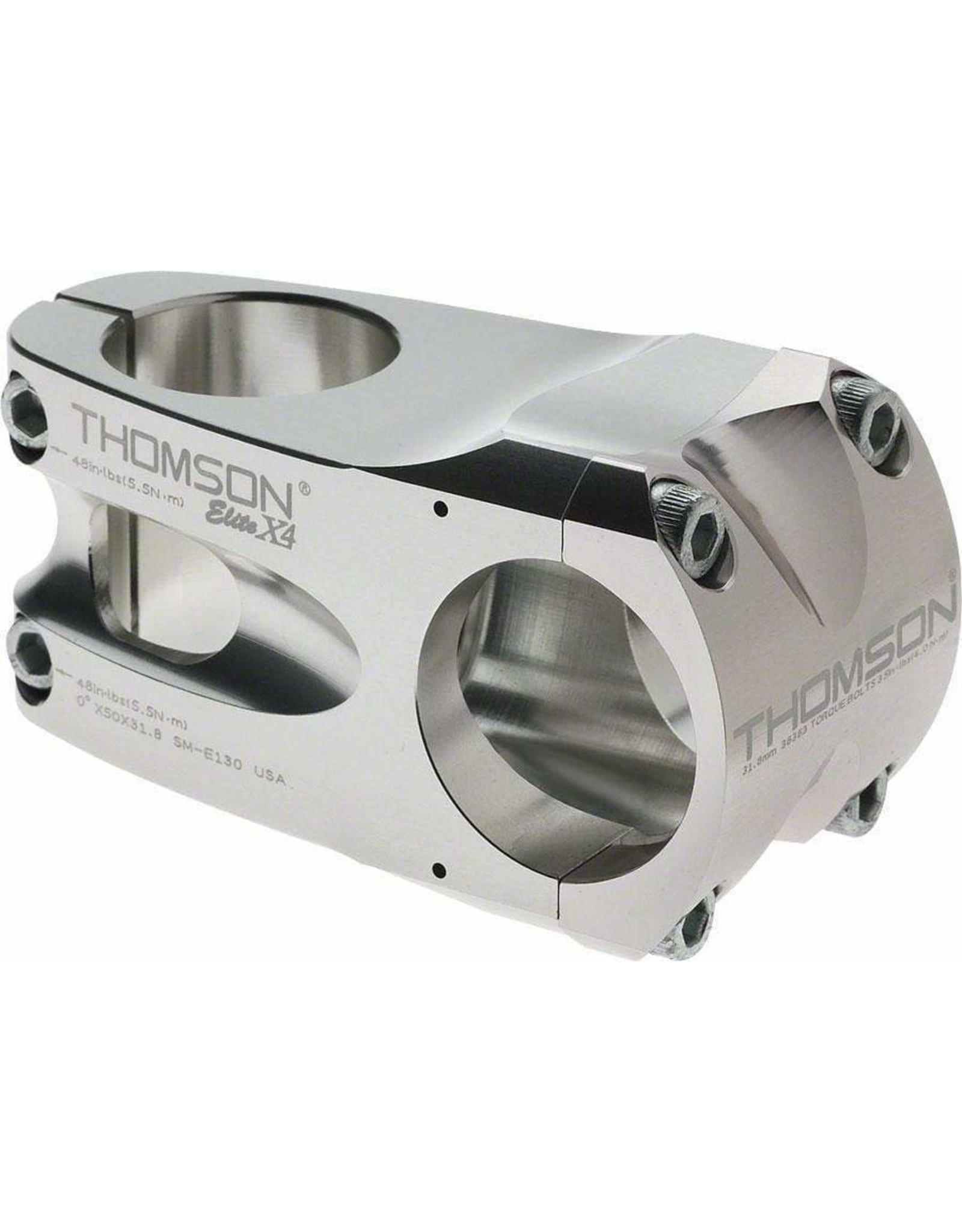 0 Degré 31.8 1-1//8 Threadless Thomson Elite X4 Mountain tige 110 mm //