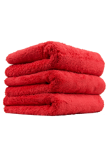 Chemical Guys Happy Ending Edgeless Microfiber Towel, Red 16''X16'' (3 Pack)