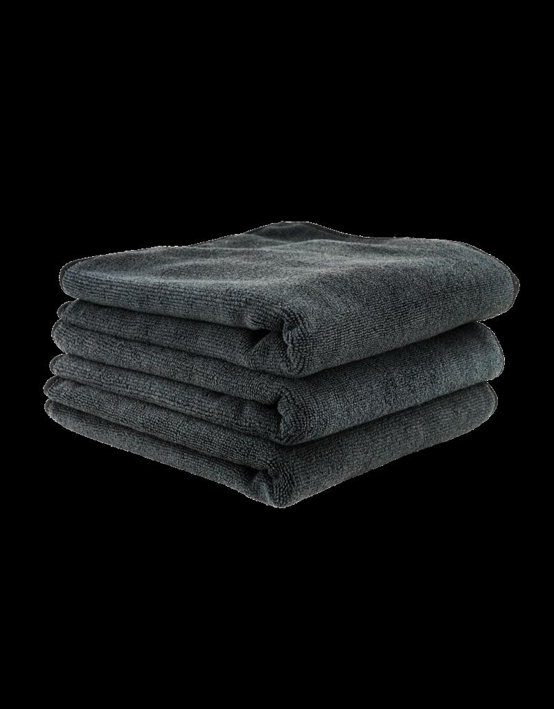 Chemical Guys Workhorse Black Professional Grade Microfiber Towel 16''X16'' (Rubber/Plastic/Vinyl) (3 Pack)