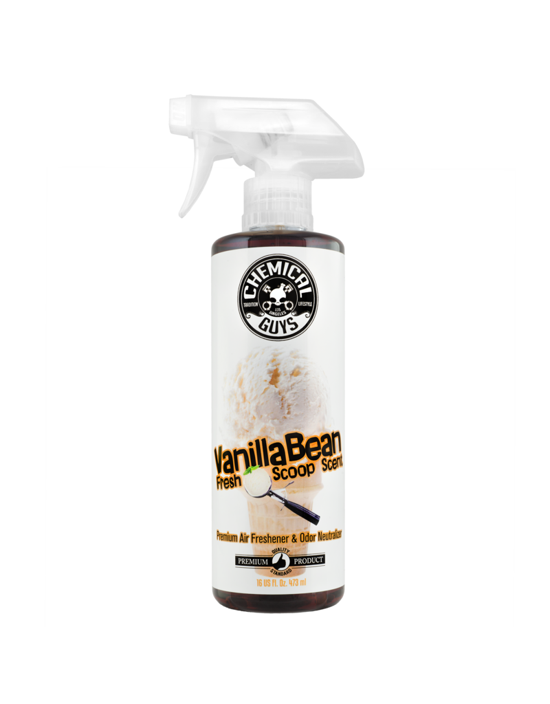 Chemical Guys Vanilla Bean Fresh Scoop Scent Air Freshener & Odor Eliminator, 16 fl. oz