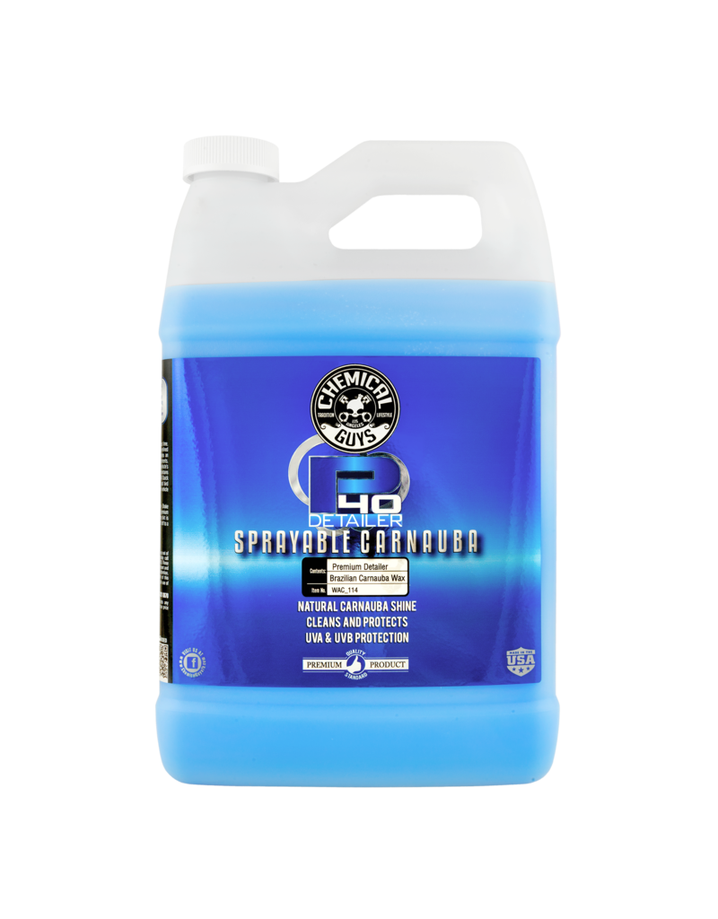 Chemical Guys WAC_114 P40-Detailer+Spray White Carnauba Quick Detailer UV Protectant (1 Gal)