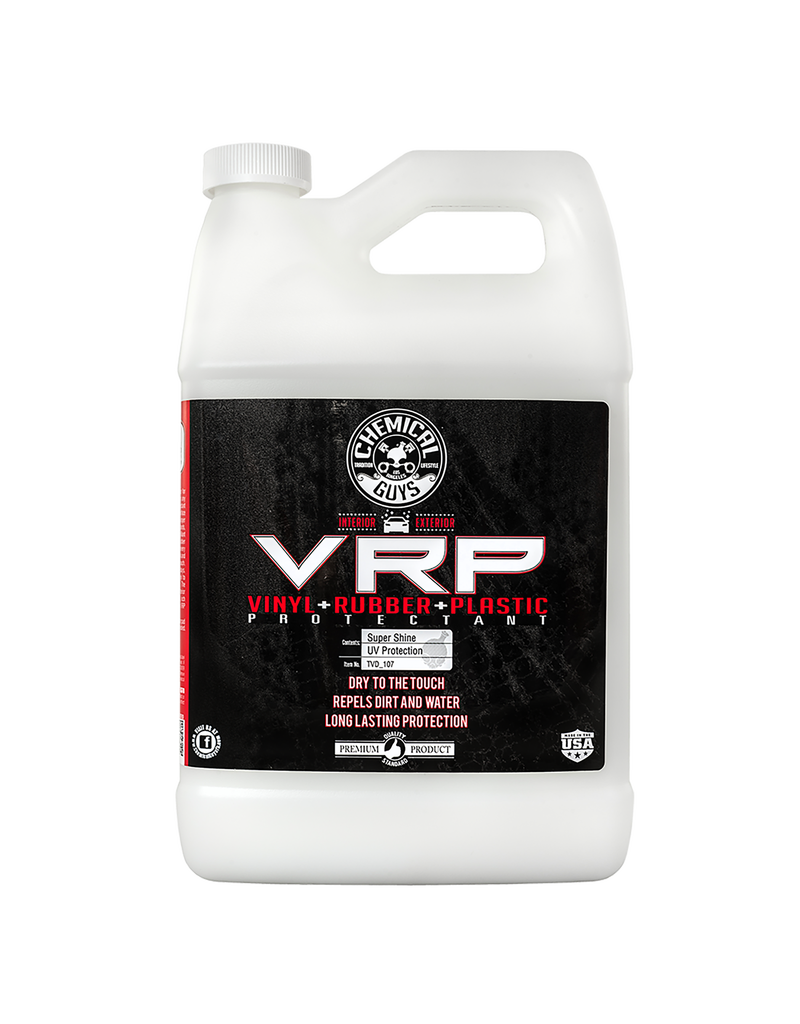 Chemical Guys TVD_107 Extreme V.R.P. Dressing 2 Long Lasting Super Shine 100% Dry To Touch Vinyl, Rubber -Tire & Plastic Restorer+Protectant (1 Gal)