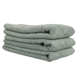 Chemical Guys Workhorse Gray Professional Grade Microfiber Towel, 16'' X 24'' (Metal)(3-Pack)