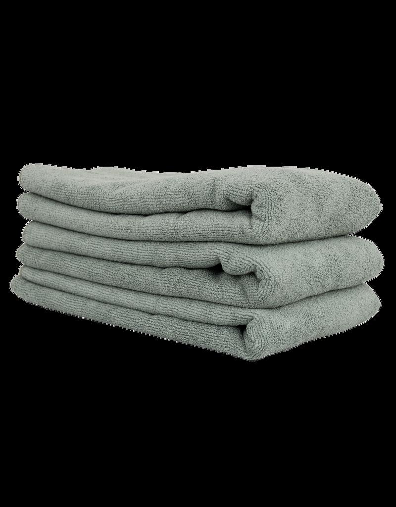 Chemical Guys Workhorse Gray Professional Grade Microfiber Towel, 16'' X 24'' (Metal)(3-Pack)