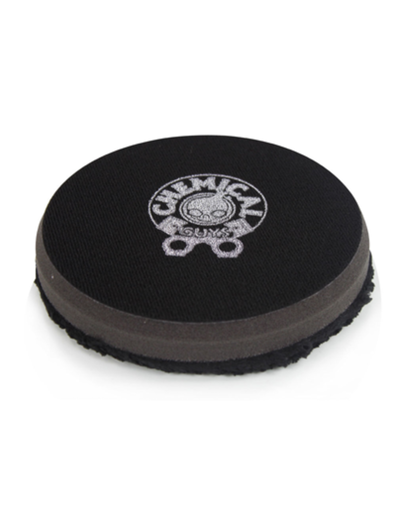 Chemical Guys 4'' Finishing Micro Fiber Pad, Black Inner Foam, 3/4'' Thickness (1pcs)