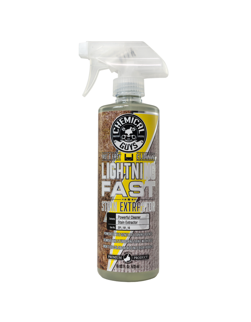 Chemical Guys Lightning Fast Carpet+Upholstery Stain Extractor Cleaner & Stain Remover (16 oz)