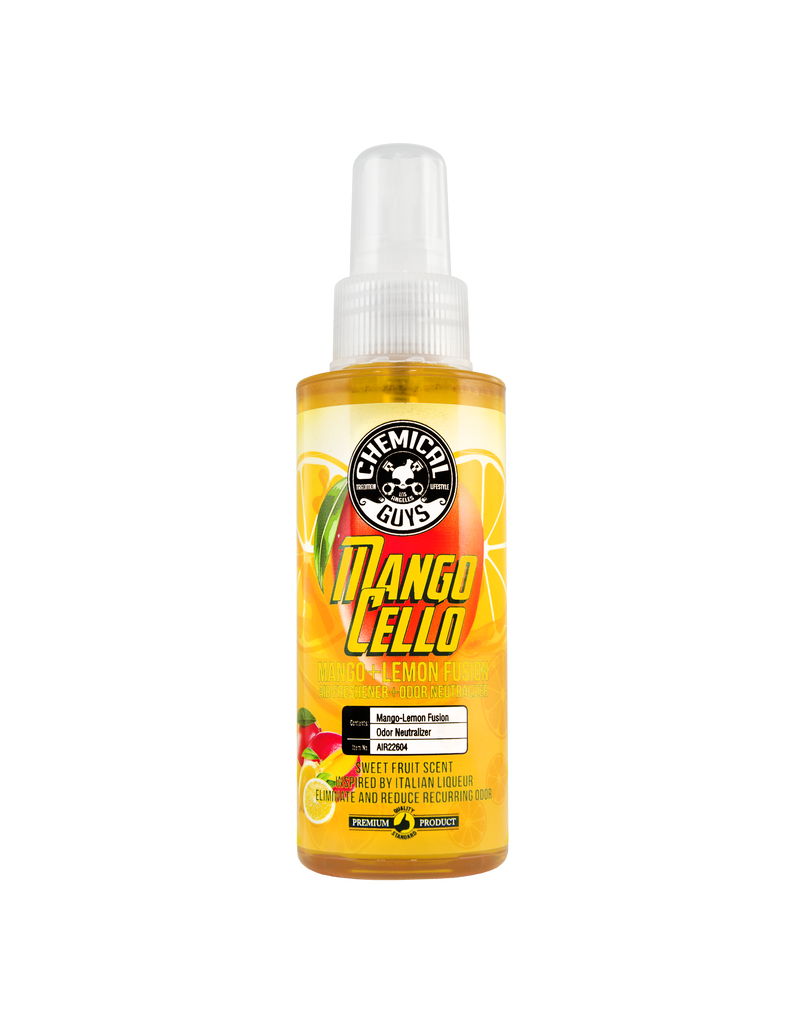 Chemical Guys Mangocello Mango Lemon Fusion Air Freshener & Odor Neutralizer (4oz)