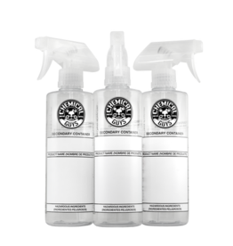 Chemical Guys Secondary Container Dilution Bottle with Natural Sprayer (3 Pack), 16 oz.