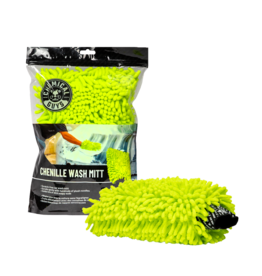 Chemical Guys Chenille Premium Scratch-Free Microfiber Wash Mitt-Lime