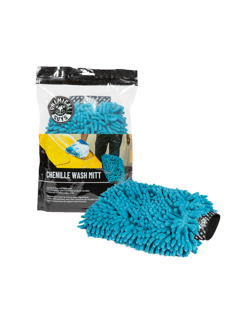 Chemical Guys Chenille Premium Scratch-Free Microfiber Wash Mitt, Blue