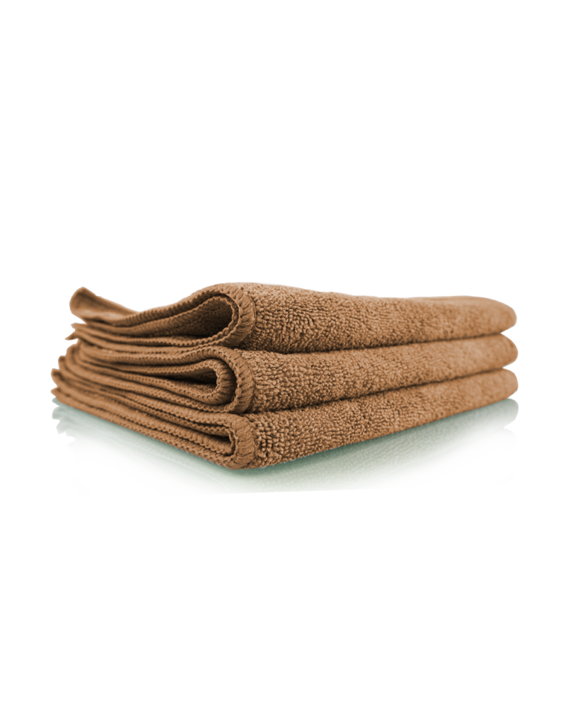"Chemical Guys MIC35403 Workhorse Tan Professional Grade Microfiber Towel 16""X16"" (Leather & Vinyl) (3 Pack)"