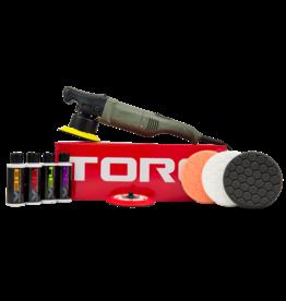 """TORQ Tool Company TORQ10FX - TORQ Polishing Machines - 120V/60Hz With TORQ 5"""" Backing Plate"""