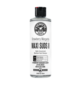 Chemical Guys Maxi-Suds II: Super Suds Shampoo- Strawberry Clear - Superior Surface Shampoo (16 oz)