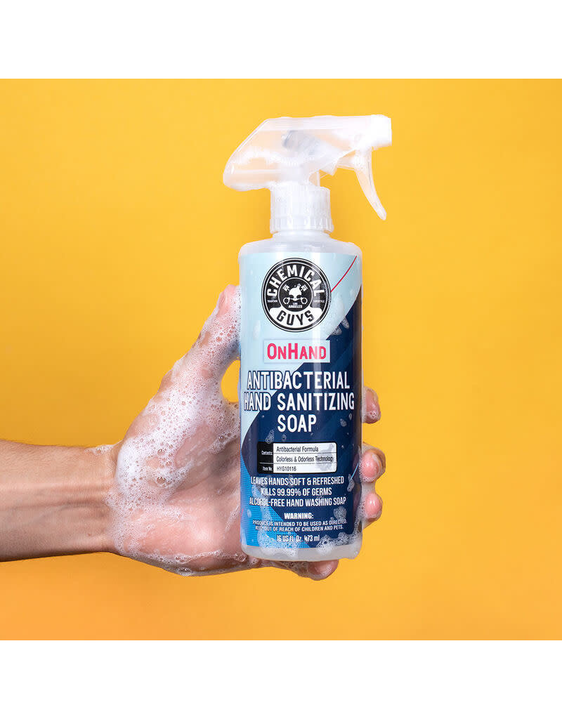 Chemical Guys OnHand Antibacterial Hand Sanitizing Soap (16 oz)