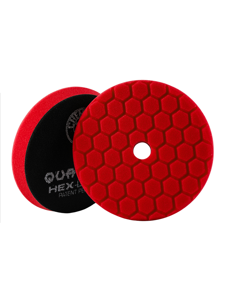 "Hex-Logic BUFX117HEX6 6"" Ultra Fine Red Finishing Pad"