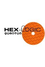 "Hex-Logic BUFX112HEX5 5"" Medium-Heavy Orange Cutting Pad"