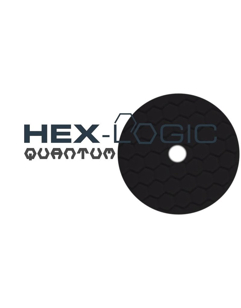"Hex-Logic BUFX116HEX6 6"" Finishing Black Pad"