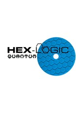 "Hex-Logic BUFX115HEX5 5"" Blue Finishing Pad for Glaze, Wax, & Sealant"