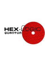 "Hex-Logic BUFX117HEX5 5"" Ultra Fine Red Finishing Pad"