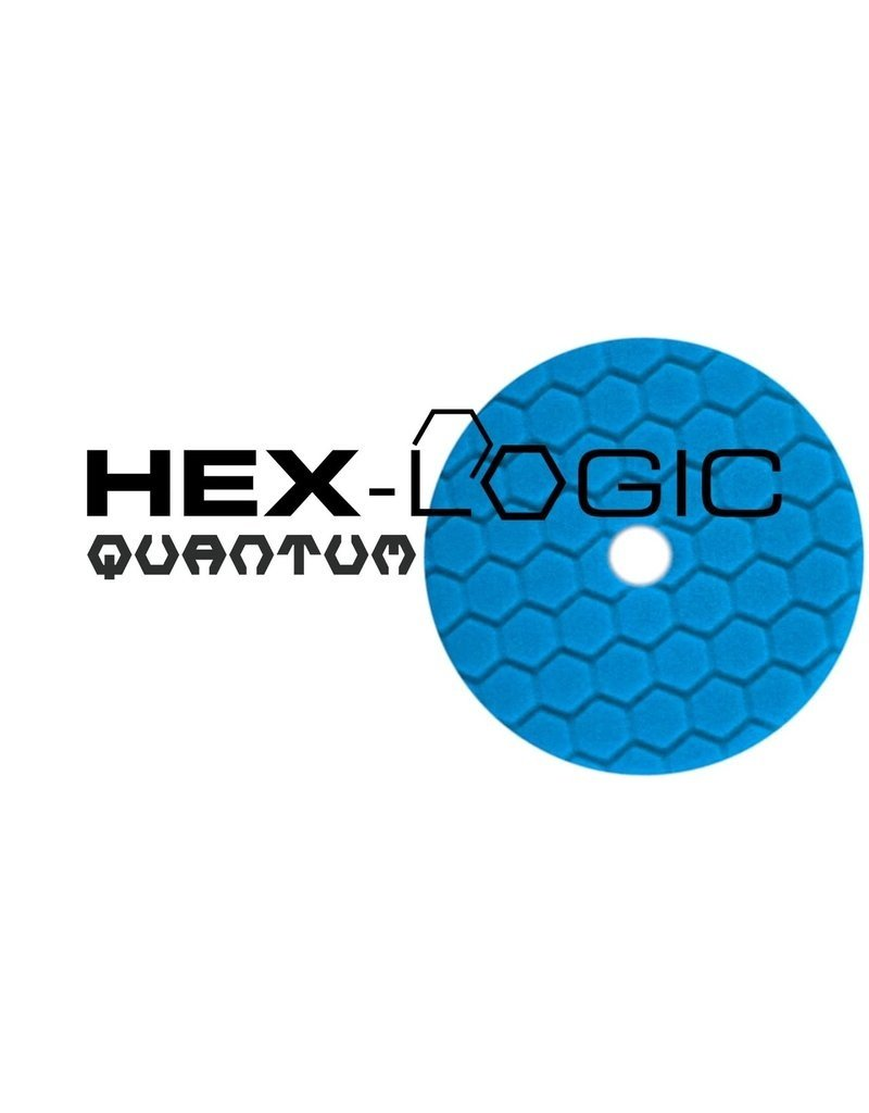 "Hex-Logic BUFX115HEX6 6"" Blue Finishing Pad for Glaze, Wax, & Sealant"